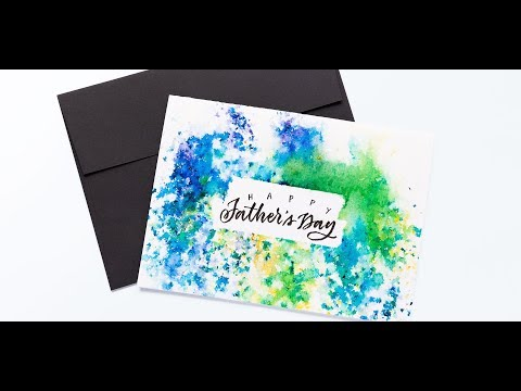 Create a Father's Day Card using BRUSHO
