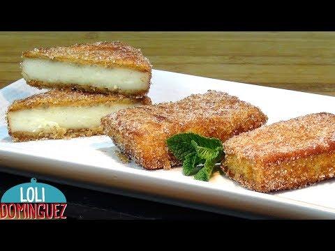 Leche frita con galletas, dulce típico de Semana Santa - Recetas paso a paso. Loli Domínguez