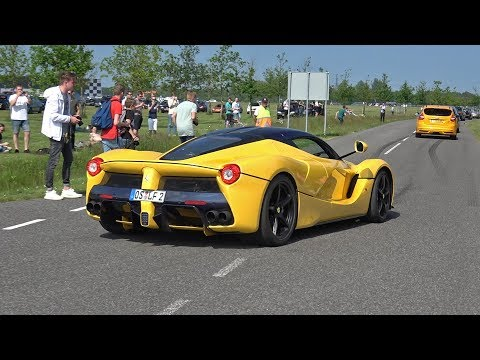 Ferrari LaFerrari FLATOUT on Track!! Revs & Accelerations!