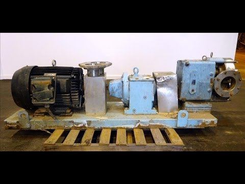 Used- Waukesha Rotary Positive Displacement Pump, Model 320 - stock # 47384095