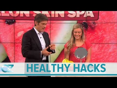 How to Treat Acne With Watermelon   Dr  Oz's Healthy Hacks