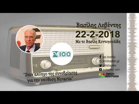 Β. Λεβέντης, στον απόηχο της υπόθεσης Novartis / FM 100 / 22-2-2018