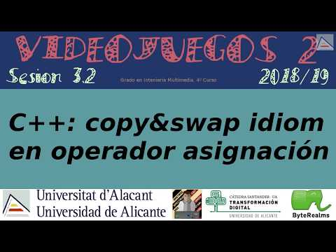 C++ : Operador asignación con copy-and-swap idiom