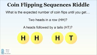 The Coin Flipping Sequences Riddle (HARD Probability Problem)