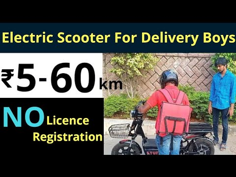 Electric Scooter for Delivery Boys in India - Tuff Review