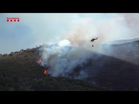 Incêndio consome parte de reserva natural na Catalunha