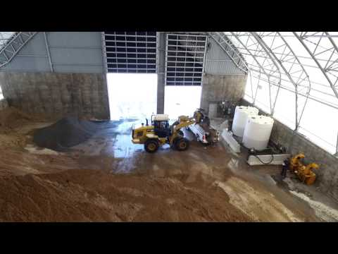 City of Kingston 100' x 167' Apex Building Series for Salt Storage
