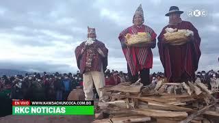 Así Evo Morales llega a Tiwanaku para la ceremonia del solsticio de verano hoy 21 de Diciembre