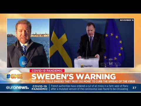 Sweden's warning: PM Lofven tells Swedes they 'must do more' to curb the spread of the virus