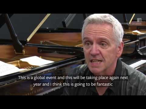 Professor Frank Finlay plays a Steinway piano
