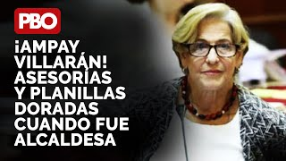 AMPAY VILLARÁN???? Aparecen asesorías y planillas doradas cuando fue alcaldesa de Lima ¿QUIÉN RESPONDE