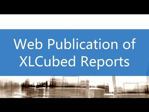 Web Publication Of XLCubed Reports