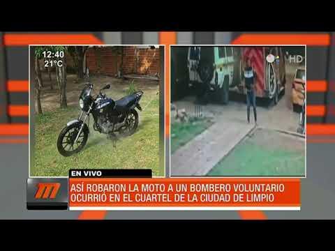 Así robaron la motocicleta de un bombero