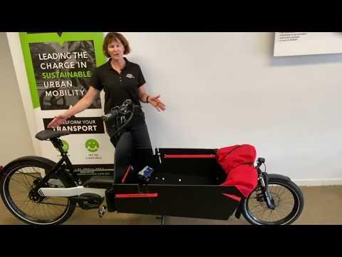 A heavy duty cargo ebike: Riese & Muller Packster 80 Vario w belt drive