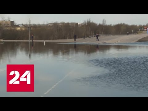 В Мурманске автодорога стала частью русла реки