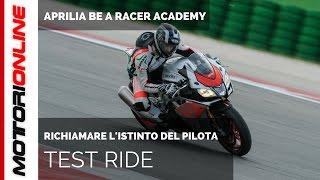 Aprilia Be A Racer Academy | Test ride in pista