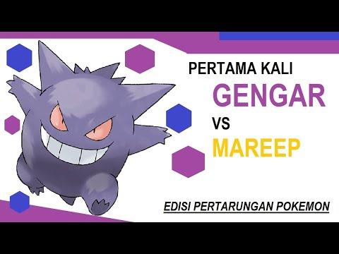 Gengar dan Rapidash vs Magnemite, Mareep, dan Pikachu