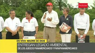 Presidente Martín Vizcarra visita el proyecto REDD en Madre de Dios