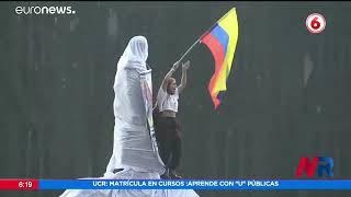 Lluvia, duelo e indignación popular en Colombia