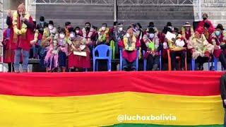 Luis Arce y David Choquehuanca en la Ceremonia del Aniversario 195 de Prov Omasuyos | Bolivia