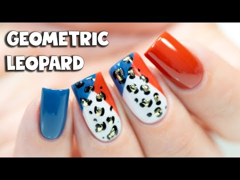 GEOMETRIC LEOPARD NAIL ART | Indigo Nails Venice