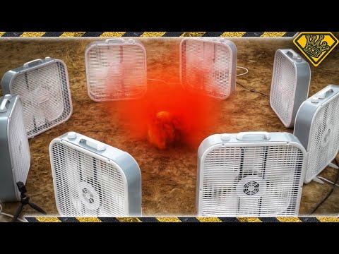 Giant Red Smoke Vortex