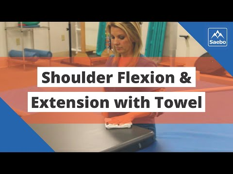 SaeboMAS Exercise - Sitting Shoulder Flexion and Extension with Towel