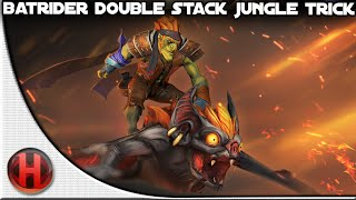 Dota 2 - Batrider Double Stack Jungle Trick
