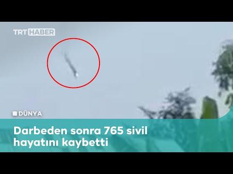 Myanmar'da darbe karşıtı silahlı grup, ordunun helikopterini düşürdü