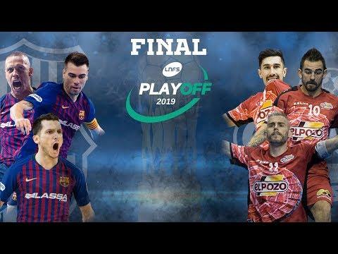 Acto de presentación de la Final del Play Off por el título: ElPozo Murcia - Barça Lassa