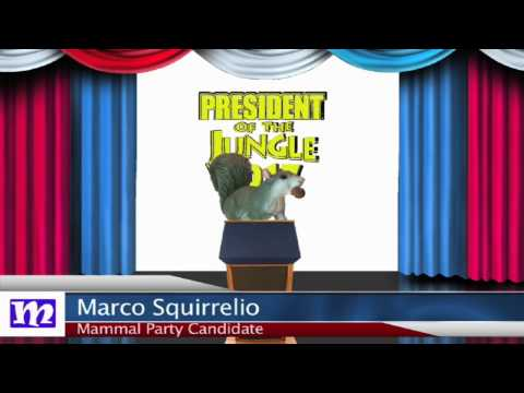 Squirrel's Speech   President of the Jungle 2017   MMNN Newsbreak   Many Miniatures Theater