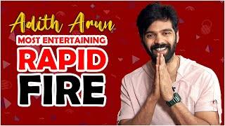 Actor Adith Arun MOST ENTERTAINING Rapid Fire | Adith Arun Interview Exclusive | TFPC - TFPC