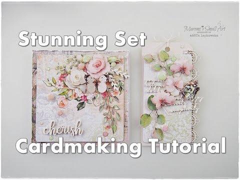Stunning Cardmaking Set Tutorial ♡ Maremi's Small Art ♡