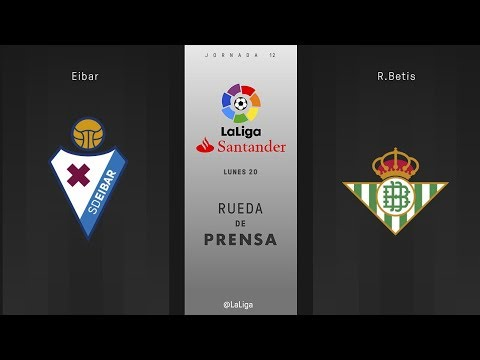 Rueda de prensa Eibar vs R. Betis