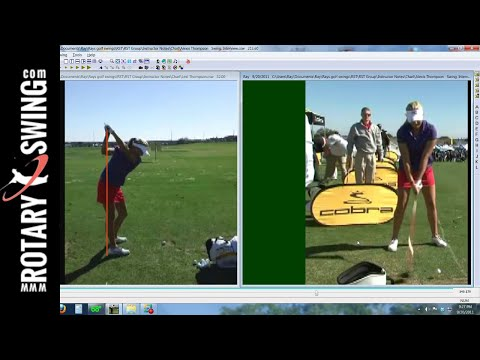 Lexi Thompson Golf Swing Analysis   RotarySwing.com