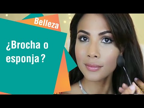 ¿Qué es mejor la brocha o esponja para el maquillaje