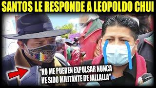 Fuerte respuesta de Santos Quispe a Jallalla