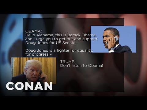 connectYoutube - Trump Crashes Obama's Doug Jones Robocall  - CONAN on TBS
