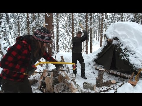 Freezing Cold Overnighter In The Snow - Part 1