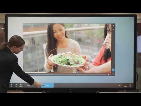 SHARP Touch Viewer on the AQUOS BOARD® Interactive Display System