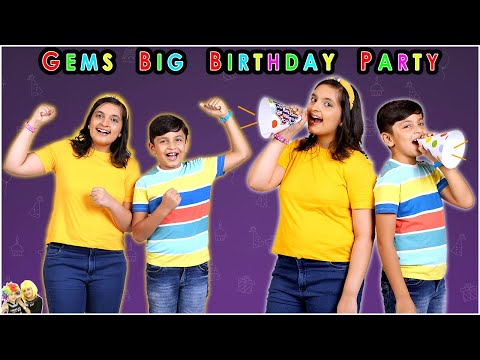 GEMS BIG BIRTHDAY PARTY | Fun, magic, games and much more | Aayu and Pihu Show