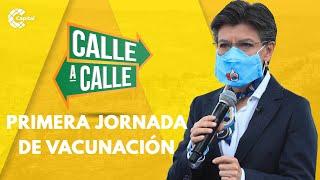 Balance de la primera jornada de vacunación en Bogotá