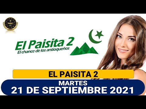 Resultados del Chance EL PAISITA 2 del martes 21 de septiembre de 2021