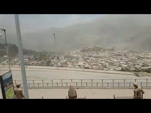 El volcán Sangay entra en erupción