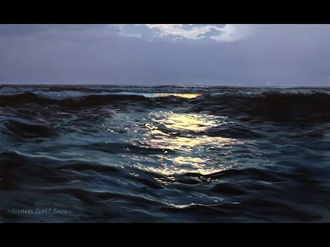 How To Paint Moonlight On Water | Oil Painting Tutorial