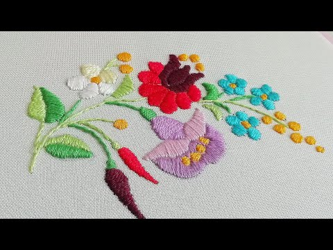Satin Stitch | Hand Embroidery | Hungarian Embroidery