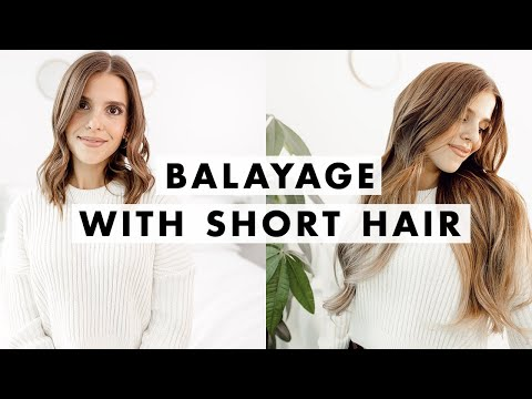 Balayage Extensions with SHORT Hair | Luxy Hair