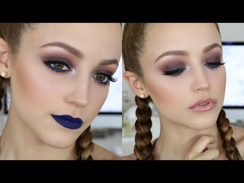 Pop of BLUE | Makeup Tutorial + 2 Lip Options!
