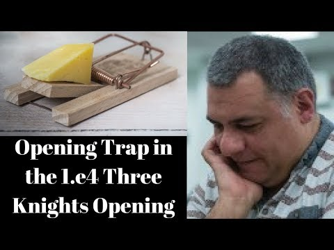 Opening Chess Trap: A very innocent looking trap in the 1.e4 Three knights opening (Part 1 of 2)