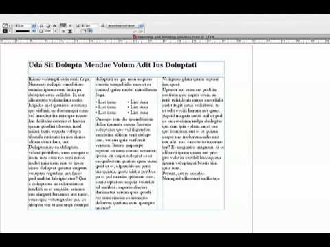 UP tips | InDesign Column Spanning and Splitting